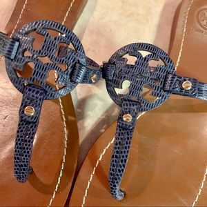 Tory Burch Shoes - TORY BURCH embossed leather sandals